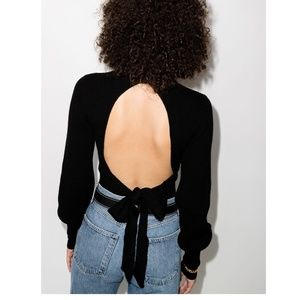 NWT Reformation Ribbed Open Back Jumper - XS